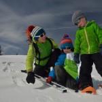 Observation d'empreintes de Blanchot dans la neige