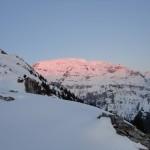 Le mont Buet au couchant