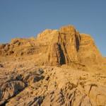 Coucher de soleil sur la Pointe Percée (Aravis)