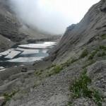 le lac des Chambres et ses icebergs!