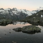 Les glaciers du Grand Paradis au dessus du val de Cogne